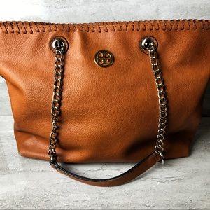 Tory Burch tote handbag brown leather 🍁